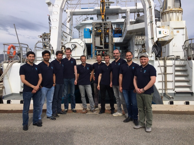 The DexROV partners in Marseille in front of the Janus II.