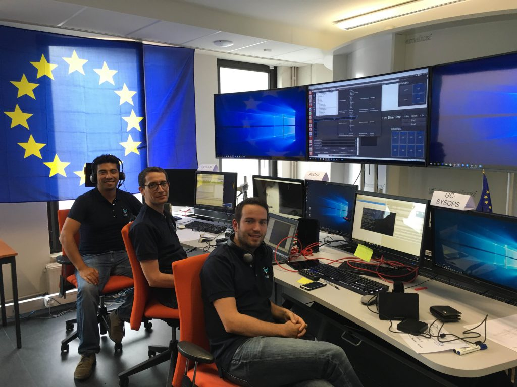 DexROV partners working in the control centre in Brussels.